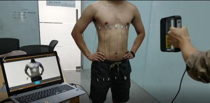 3D scanning body shape